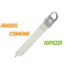 Diodo LED RGB 5mm Anodo...