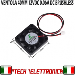 VENTOLA 12V 40mm 2Pin 23dB...